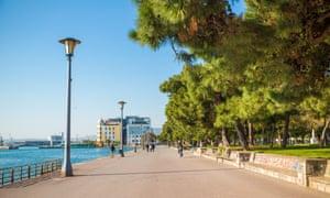 Volos's promenade.