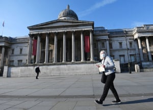 Outside the National Gallery this week.
