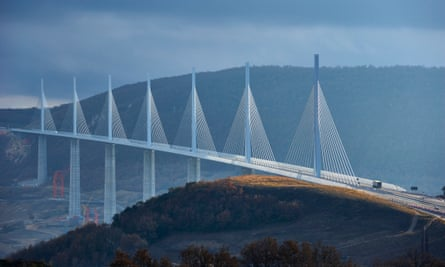 Norman Foster's Millau viaduct in France, which has 'cut out five-hour traffic jams'.