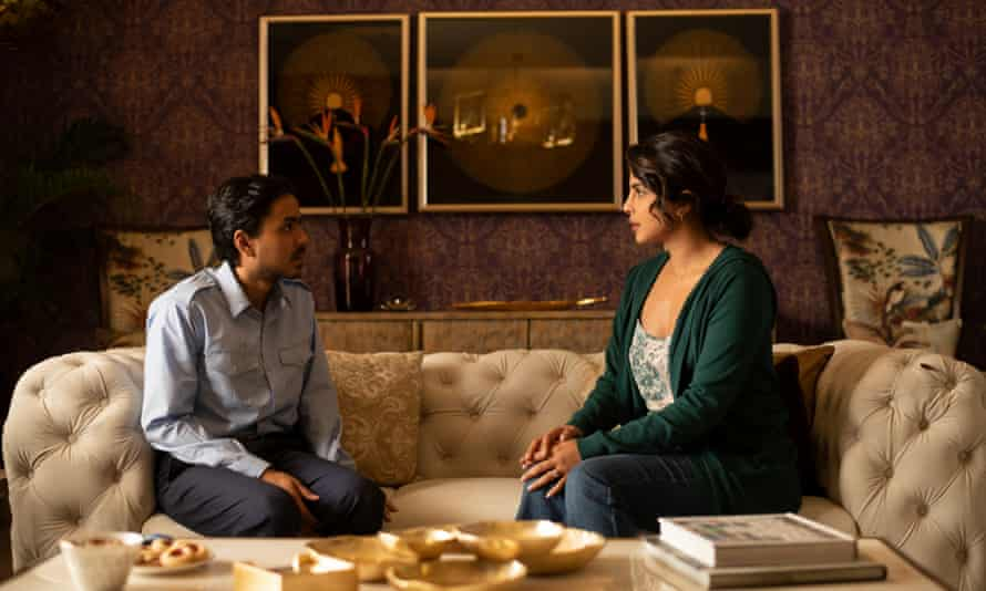 Feline ambition ... Adarsh Gourav as Balram, Priyanka Chopra as Pinky Madam in The White Tiger.
