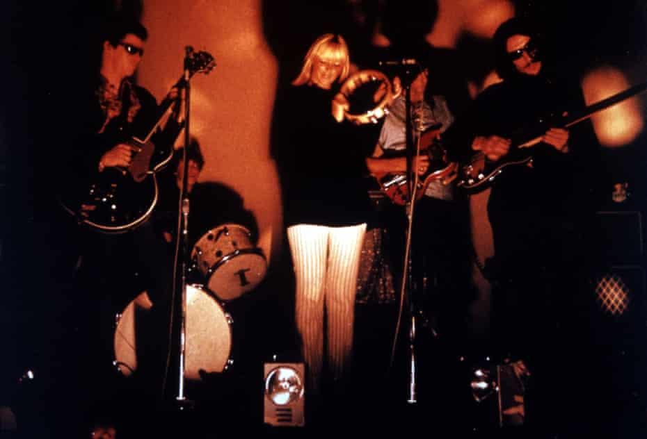 The Velvet Underground on stage with Nico.