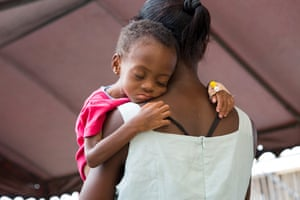 A mother and child at the Princess Marie Louise Children's Hospital in Accra, which hosts the largest facility in Ghana assisting malnourished children and their mothers