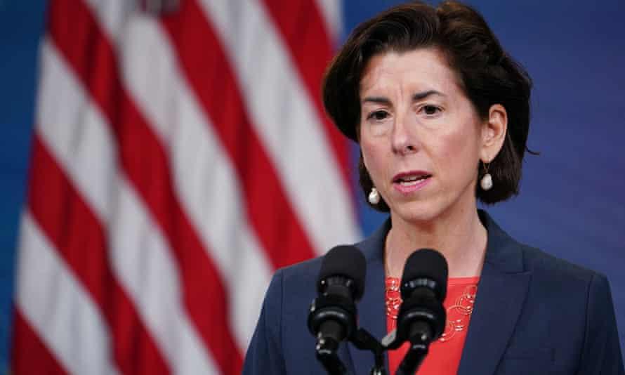 US commerce secretary Gina Raimondo speaks in Washington.