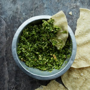 This tangy green chutney will keep for weeks in the fridge and is a great toast topper.