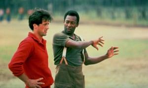 Sylvester Stallone and Pelé on the set of Escape to Victory.
