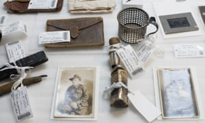 Wartime items including photos and personal paraphernalia were collected by first world war veteran Michael 'Mick' Ward and discovered inside a suitcase in Melbourne.