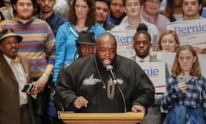 Killer Mike at the Bernie Sanders rally in Atlanta in November.