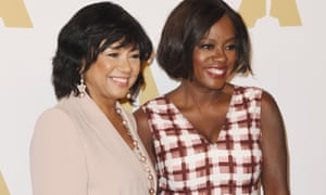 Academy of Motion Picture Arts and Sciences president Cheryl Boones Isaacs with actor Viola Davis in February.