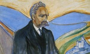 The original Übermensch ... Detail from a painting of Friedrich Nietzsche by Edvard Munch (1906).