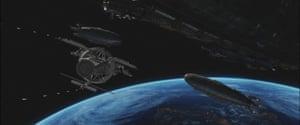 Space invaders … Iron Sky's orbiting Zeppelins