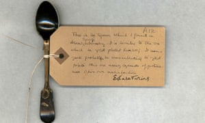 A teaspoon removed from Alan Turing's room by his mother after his death in 1954.