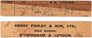 A printed ticket from the Titanic''s opulent Turkish baths.