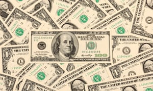 100 US dollar bills