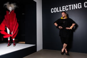 Miles Lemonade at the National Gallery of Victoria's fashion exhibition Collecting Comme