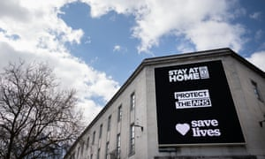 A sign in Cardiff encouraging people to stay at home to protect the NHS