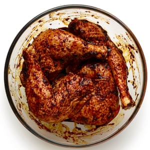 Massage the marinade into the chicken and refrigerate for up to 12 hours.