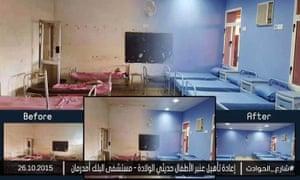 An example of how Shari' al-Hawadith documents its work on social media.
