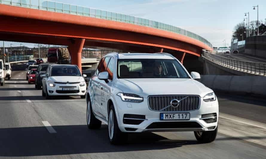 Volvo's driverless XC90
