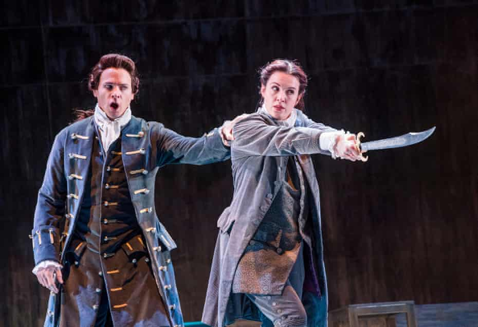 On tremendous form … Christopher Ainslie (Julius Caesar) and Kitty Whately (Sesto) in Giulio Cesare.