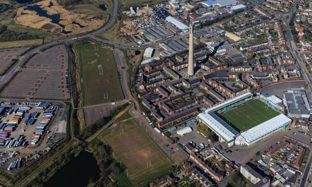 Northampton aerial view