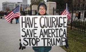 An anti-Trump protest in Atlanta