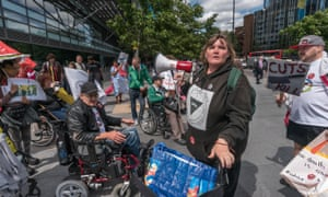 A protest outside Atos in London in July 2017