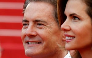 """70th Cannes Film Festival - Screening of the TV series """"Twin Peaks"""" presented as part of 70th Anniversary Events - Red Carpet Arrivals - Cannes, France. 25/05/2017. Actor Kyle MacLachlan and his wife Desiree Gruber pose"""