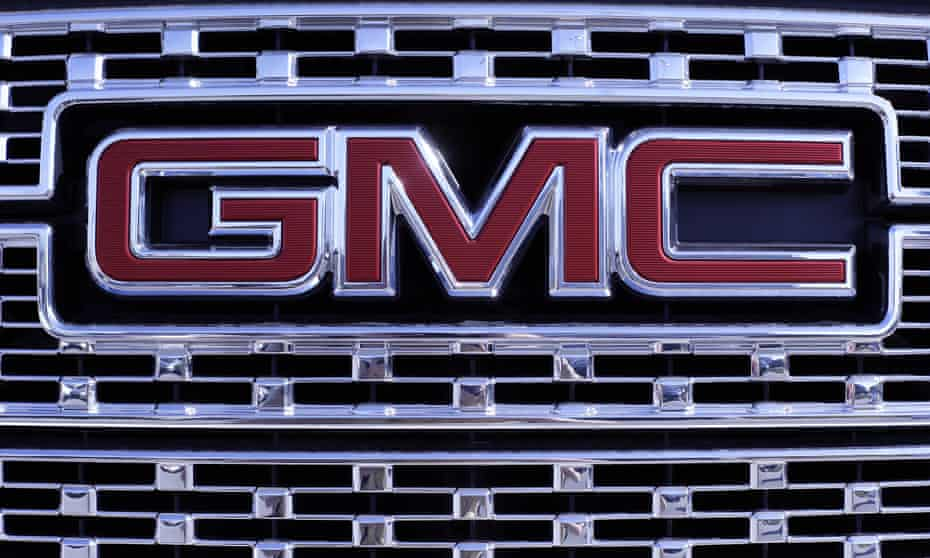 a GMC truck's grill