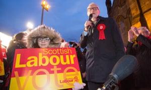 Labour leader Jeremy Corbyn campaigns in Govan, Glasgow, December 2019.