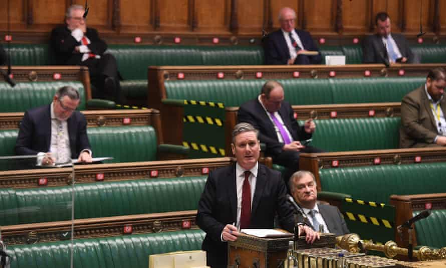 Keir Starmer during the Brexit debate in the House of Commons on Wednesday