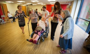 Paula taking part in a dance therapy class.