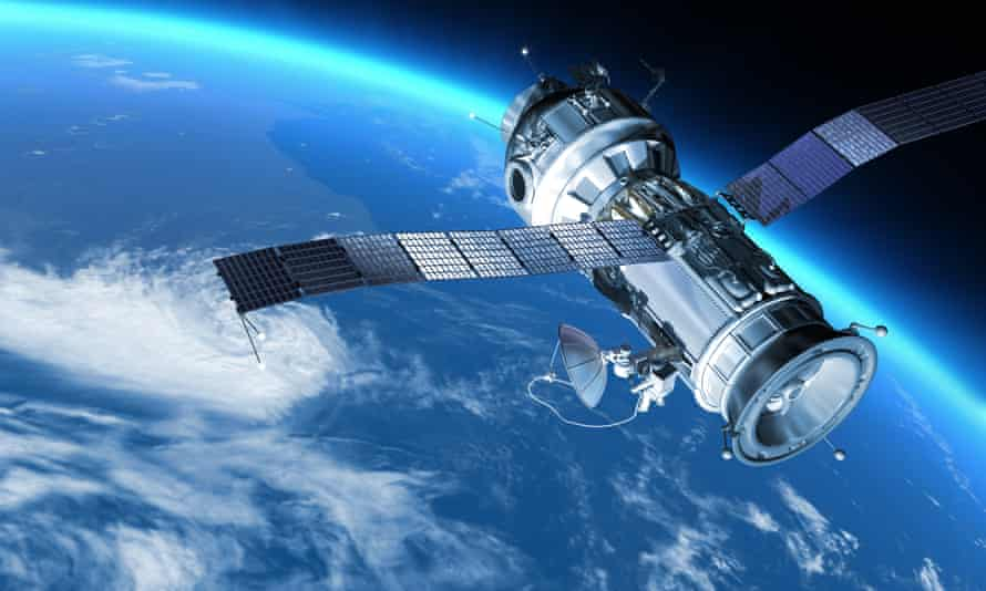 """Space station in Earth orbit.""""My design space station on Earth orbit. The satellite has severalcommunication anten.Also it maybe SPY, GPS satelite."""""""