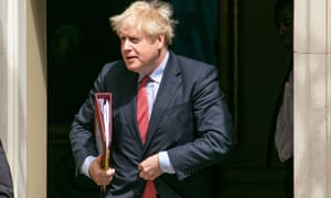 Prime minister Boris Johnson in Westminster, on 15 July.
