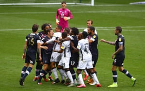 The players clash at the Liberty.