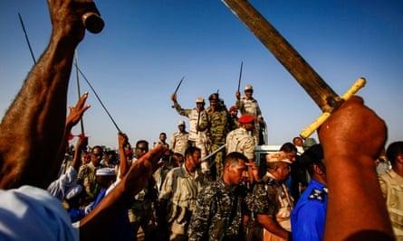 The leader of the Janjaweed, General Mohamed Hamdan Dagalo, aka Hemedti, in the village of Qarri, about 90km north of Khartoum, on June 15, 2019.