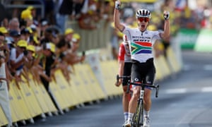 Mitchelton-Scott rider Daryl Impey of South Africa wins the stage