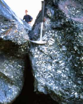 Iron ore at the Pico do Itabirito mine in Minas Gerais, Brazil