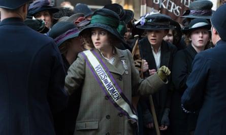 Helena Bonham Carter portrays Edith Ellyn in Suffragette.