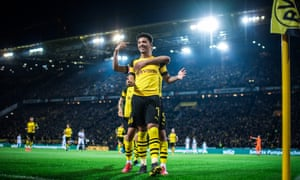 Jadon Sancho takes the plaudits after giving Dortmund a 2-1 lead over Bayer Leverkusen.