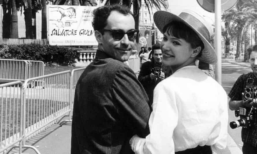 Godard and Karina at Cannes, 1962.