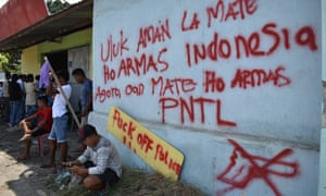 Protests have broken out in the Timor Leste capital of Dili after an off-duty police officer allegedly shot and killed three 18-year-old men at a party after firing indiscriminately in the dark