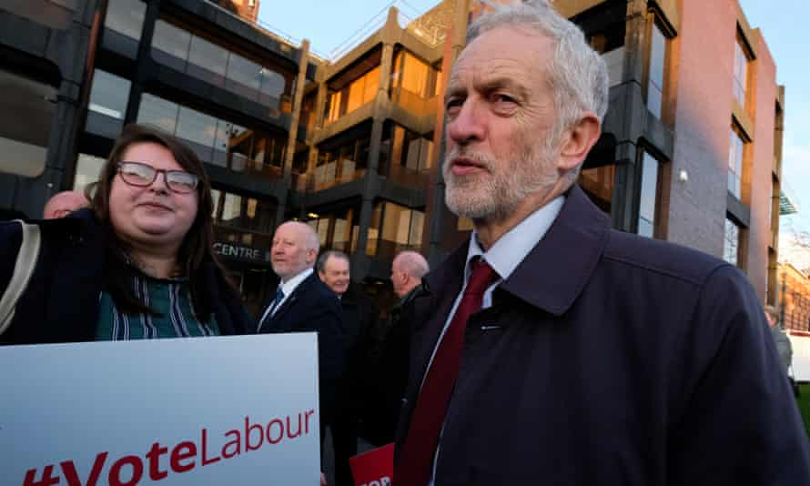 Jeremy Corbyn with Labour supporters in Middlesbrough, January 2019