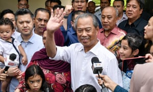 Muhyiddin Yassin at a press conference after he was selected as Malaysia's new prime minister.