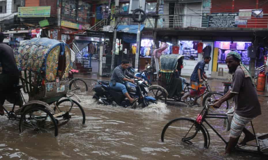 Flooding in Dhaka in June