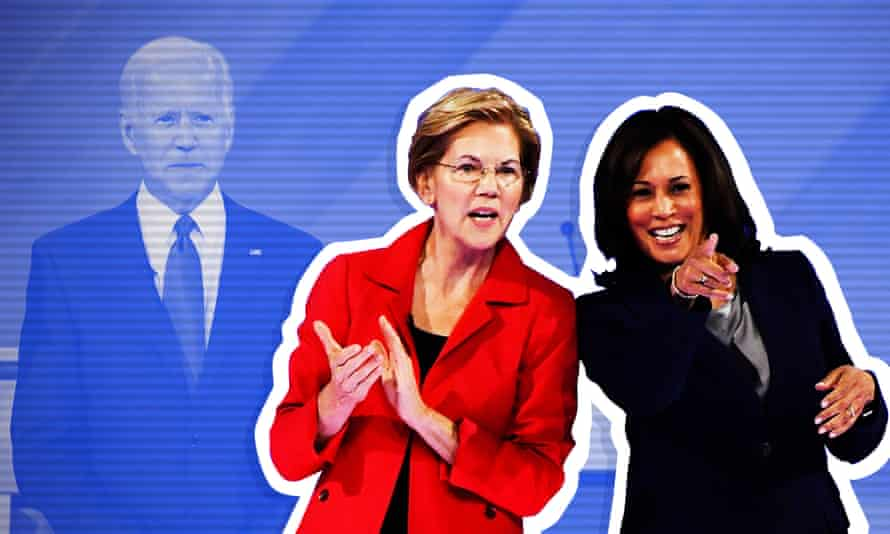 Elizabeth Warren and Kamala Harris feature high on the list of Joe Biden's potential running mates, along with Stacey Abrams, Amy Klobuchar and Gretchen Whitmer.