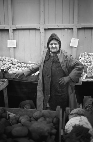 Jessie, who ran Potts Vegetable StallThe clothing and the faces show evidence of a community accustomed to daily hardship and poverty.