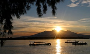 Sunset over Gili Air, Indonesia