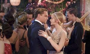 Leonardo DiCaprio y Carey Mulligan en la película de 2013 de Baz Luhrmann The Great Gatsby.