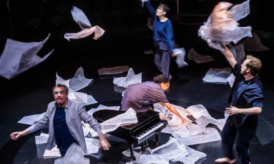 Phelim McDermott, left, in Tao of Glass by Phelim McDermott and Philip Glass at Royal Exchange Theatre, Manchester.