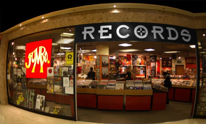 Front of Jumbo record shop in Leeds